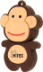 Usb flash накопитель Mirex Monkey Brown 4GB (13600-KIDMKB04) -