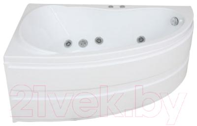 Ванна акриловая BAS Алегра 150x90 L (с гидромассажем Flat Brass)