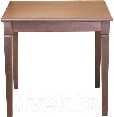 Обеденный стол Alesan Акс 80x80 (орех лак)