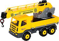 Детская игрушка Полесье Автомобиль-кран Престиж с поворотной платформой 56528 -