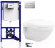 Унитаз подвесной с инсталляцией Duravit Set Starck 3 (42000900A1+9072100..S013) -