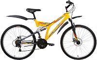 Велосипед Forward Altair MTB FS 26 Disc 2017 / RBKT7SN6Q004 (16, желтый/серый матовый) -