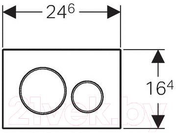 Кнопка для инсталляции Geberit Sigma 20 115.882.SN.1