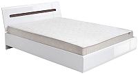 Каркас кровати Black Red White Azteca S205-LOZ160x200 (белый/белый блеск) -