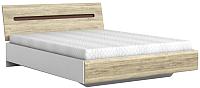 Каркас кровати Black Red White Azteca S205-LOZ160x200 (белый/дуб санремо) -