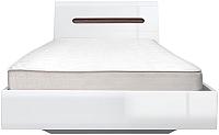 Каркас кровати Black Red White Azteca S205-LOZ90x200 (белый/белый блеск) -
