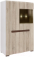 Шкаф Black Red White Azteca S205-REG1W1D/14/9 (белый/дуб санремо) -