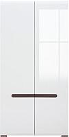 Шкаф Black Red White Azteca S205-SZF2D/21/11 (белый/белый блеск) -