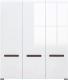 Шкаф Black Red White Azteca S205-SZF3D/21/18 (белый/белый блеск) -