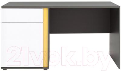 Письменный стол Black Red White Graphic S202-BIU1D1SL (серый вольфрам/белый блеск)