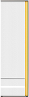 Шкаф-пенал Black Red White Graphic 202-REG1D2SL (серый вольфрам/белый блеск) -