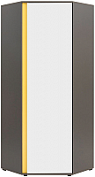 Шкаф Black Red White Graphic S202-SZFN1D (серый вольфрам/белый блеск) -