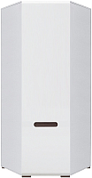 Шкаф Black Red White Azteca S205-SZFN1D/21/10 (белый/белый блеск) -