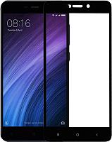 Защитное стекло для телефона NoBrand для Xiaomi Redmi 4A (черный) -