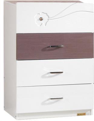 Комод Королевство сна Bellezza-001 (сиреневый с белым, 4 ящика) - общий вид