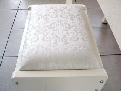 Туалетный столик с зеркалом Королевство сна Prestigio-002 (перламутровый с серебром) - стульчик