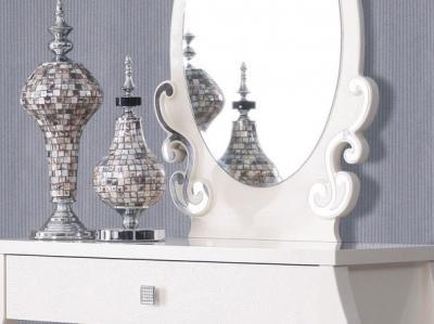 Туалетный столик с зеркалом Королевство сна Prestigio-002 (перламутровый с серебром) - детальное изображение