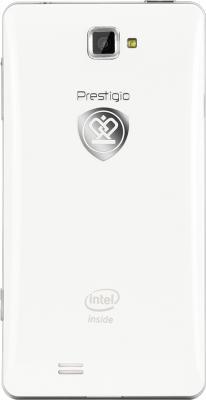 Смартфон Prestigio MultiPhone 5430 (белый) - вид сзади