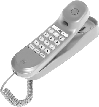 Проводной телефон TeXet TX-224 Light Gray - общий вид