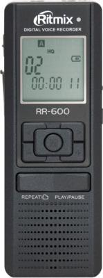 Цифровой диктофон Ritmix RR-600 4Gb Black - общий вид