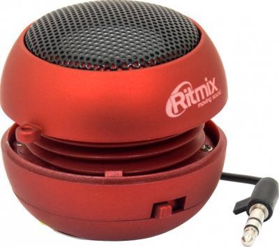 Мультимедиа акустика Ritmix SP-050 (красный) - общий вид (открыта)