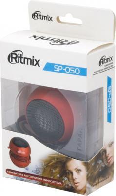Мультимедиа акустика Ritmix SP-050 (красный) - коробка