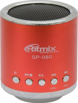 Портативная колонка Ritmix SP-080 Red - общий вид