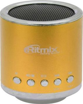 Портативная колонка Ritmix SP-090 Gold - общий вид