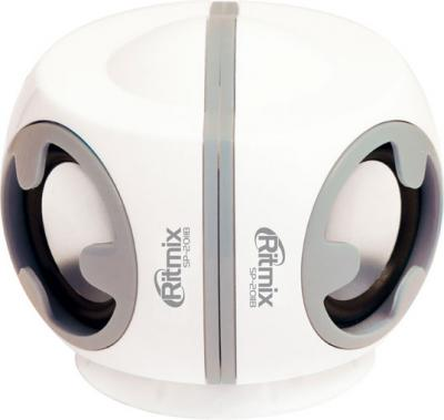 Мультимедиа акустика Ritmix SP-2011B (белый) - общий вид