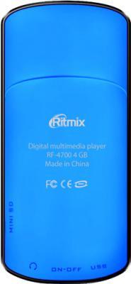 MP3-плеер Ritmix RF-4700 (4Gb, синий) - вид сзади