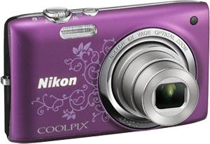 Компактный фотоаппарат Nikon Coolpix S2700 Purple Patterned - общий вид