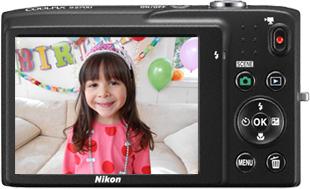 Компактный фотоаппарат Nikon Coolpix S2700 Purple Patterned - вид сзади
