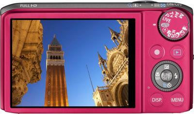 Компактный фотоаппарат Canon PowerShot SX260 HS Red - вид сзади