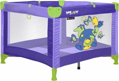 Игровой манеж Lorelli Play Dinos Violet - общий вид