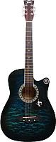 Акустическая гитара Jervis JG-381C/BLS (синий) -