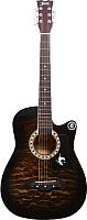 Акустическая гитара Jervis JG-381C/BS (коричневый) -