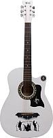 Акустическая гитара Jervis JG-382C/WH (белый) -