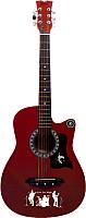 Акустическая гитара Jervis JG-382C/RDS (красный) -