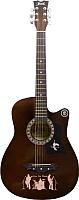 Акустическая гитара Jervis JG-382C/BS (коричневый) -