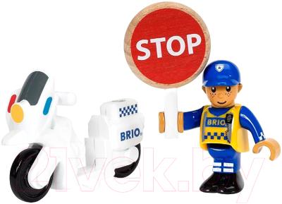 Элемент железной дороги Brio Полицейский мотоцикл 33861