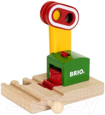 Элемент железной дороги Brio Сигнальный знак на магните 33868