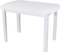 Обеденный стол Домотека Гамма ПО 04 (белый/белый) -