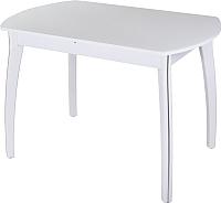 Обеденный стол Домотека Реал ПО 07 (белый/белый) -