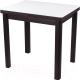 Обеденный стол Домотека Реал М-2 04 КМ (белый/венге) -