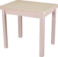 Обеденный стол Домотека Реал М-2 04 КМ (бежевый/молочный дуб) -