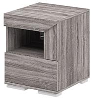 Прикроватная тумба Мебель-Неман Кристалл МН-131-02/1 (дуб сонома/трюфель) -