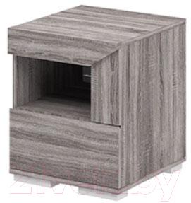 Прикроватная тумба Мебель-Неман Кристалл МН-131-02/1 (дуб сонома/трюфель)