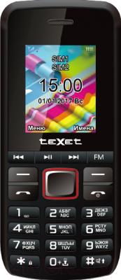 Мобильный телефон TeXet TM-203 (черный/красный)