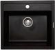 Мойка кухонная Lava Q2 (чёрный металлик) -
