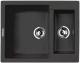 Мойка кухонная Lava D1 (черный металлик) -